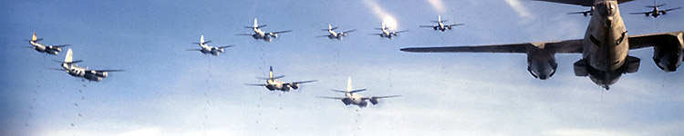 B-26 Marauders on bomb run